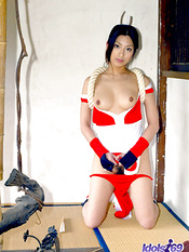 Naughty Asian  exposes her hot body in her k a boo dress before her date